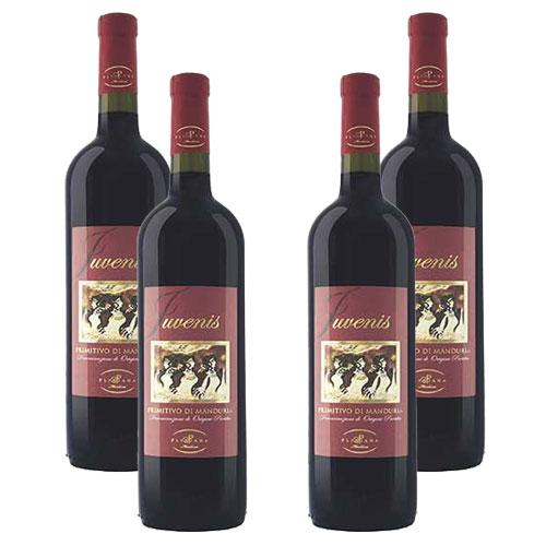 4 Vinhos Juvenis Primitivo Di Manduria D.O.P. 750ml