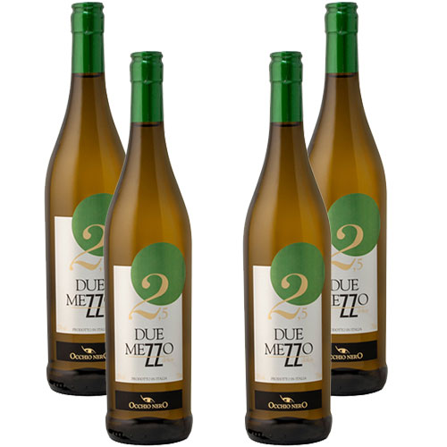 4 Vinhos Occhio Nero Duemezzo Bianco Dolce 750ml