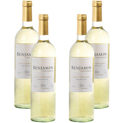 4 Vinhos Benjamin Nieto Branco Suave  Refrescante 750ml