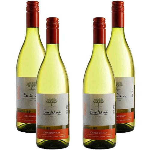 4 Vinhos Emiliana Chardonnay 750ml