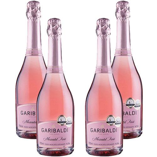 4 Espumantes Garibaldi Moscatel Rosé 750ml