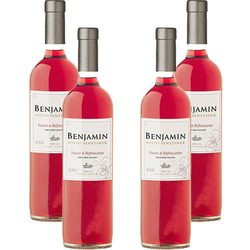 4 Vinhos Benjamin Nieto Rose Suave  Refrescante 750ml