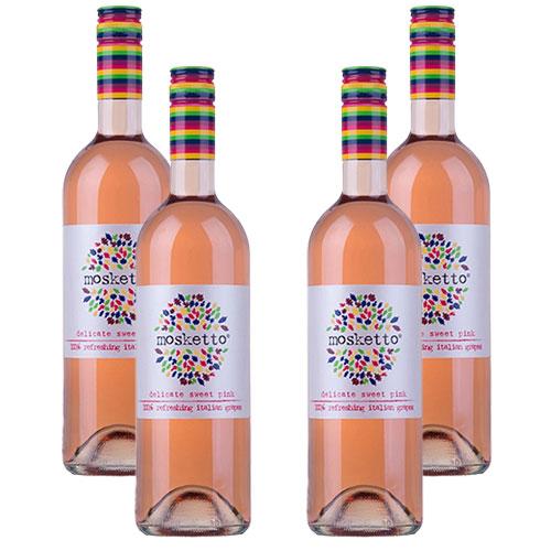 4 Vinhos Mosketto Frisante Rose 750ml