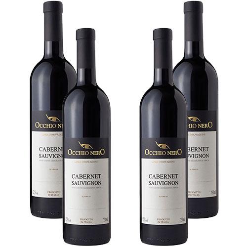 4 Vinhos Occhio Nero Linea Innovazione Cabernet Sauvignon I.G.T. 750ml