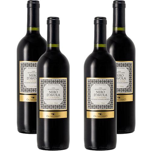 4 Vinhos Occhio Nero Linea Classici Nero D'Avola I.G.P. 750ml