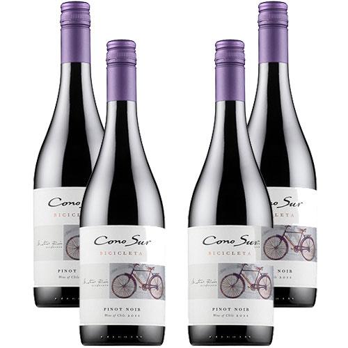 4 Vinhos Cono Sur Bicicleta Pinot Noir 750ml