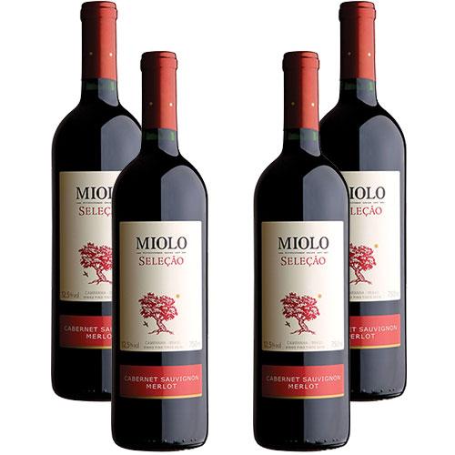 4 Vinhos Miolo Seleção Cabernet Sauvignon e Merlot 750ml