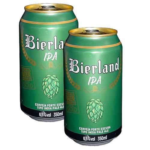 Pack 2 Cervejas Bierland IPA Lata 350ml