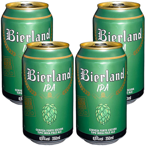 Pack 4 Cervejas Bierland IPA Lata 350ml