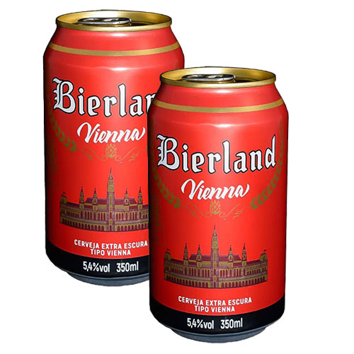 Pack 2 Cervejas Bierland Vienna Lata 350ml