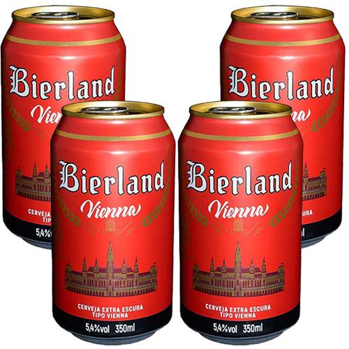 Pack 4 Cervejas Bierland Vienna Lata 350ml