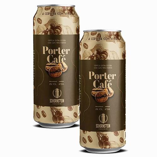 Pack 2 Cervejas Schornstein Porter e Café Lata 473ml