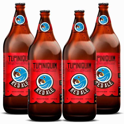 Pack 4 Cervejas Tupiniquim Red Ale Garrafa - Litrão
