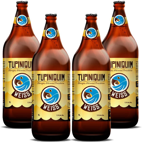 Pack 4 Cervejas Tupiniquim Weiss Garrafa - Litrão