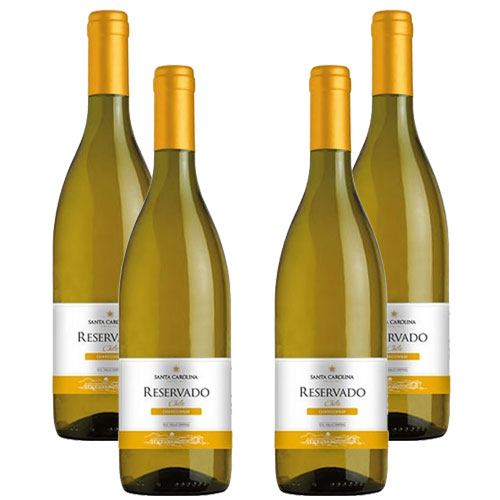 4 Vinhos Santa Carolina Reservado Chardonnay 750ml