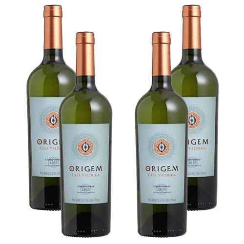 4 Vinhos Origem Casa Valduga Chardonnay 750ml