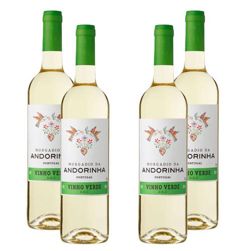 4 Vinhos Morgadio da Andorinha D.O.C. Verde 750ml