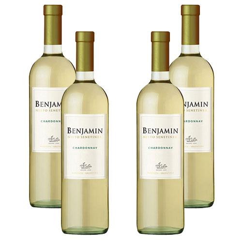 4 Vinhos Benjamin Nieto Senetiner Chardonnay 750ml