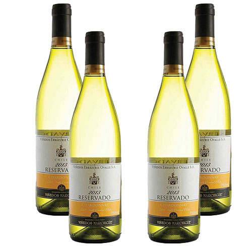 4 Vinhos Errázuriz Reservado Chardonnay 750ml