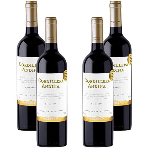 4 Vinhos Cordillera Andina Carménère 750ml