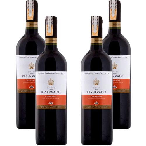 4 Vinhos Errazuriz Reservado Carménère 750ml