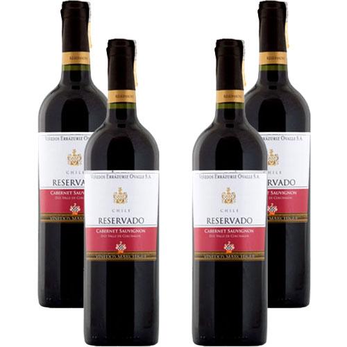 4 Vinhos Errazuriz Reservado Cabernet Sauvignon 750ml