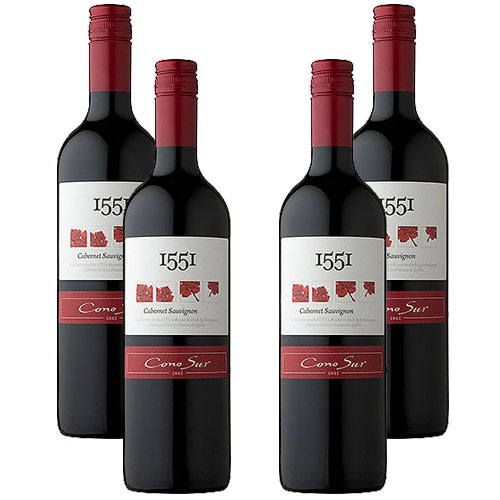 4 Vinhos Cono Sur 1551 Cabernet Sauvignon 750ml