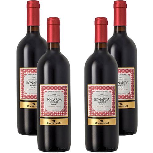 4 Vinhos Occhio Nero Linea Classici Amabile Bonarda D.O.C. 750ml