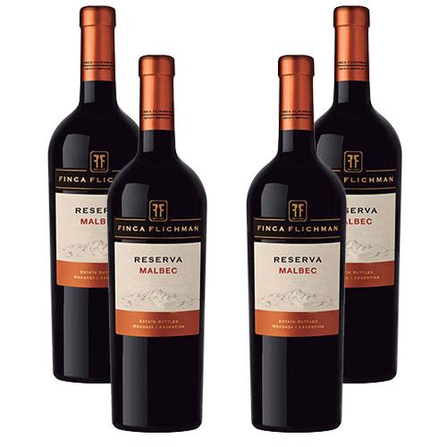 4 Vinhos Finca Flichman Reserva Malbec 750ml