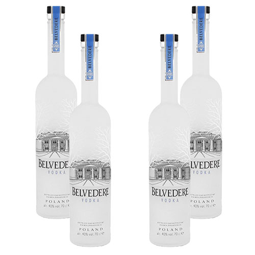 4 Vodkas Belvedere Pure 700ml