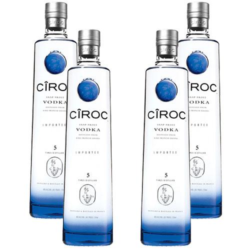 4 Vodkas Cîroc 750ml
