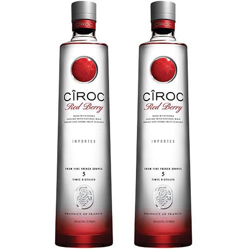2 Vodkas Cîroc Red Berry 750ml