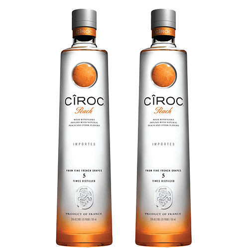 2 Vodkas Cîroc Peach 750ml