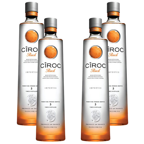 4 Vodkas Cîroc Peach 750ml