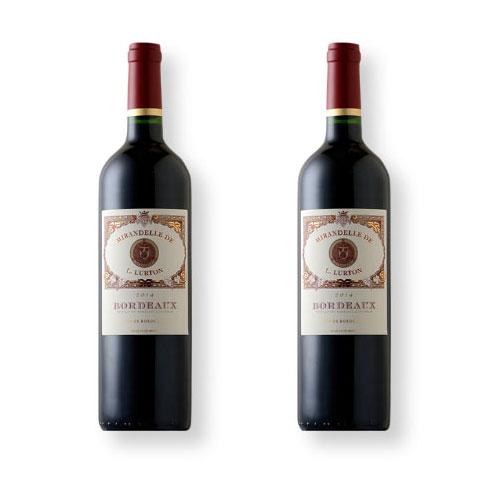 2 Vinhos Mirandelle de L. Lurton Red 750ml