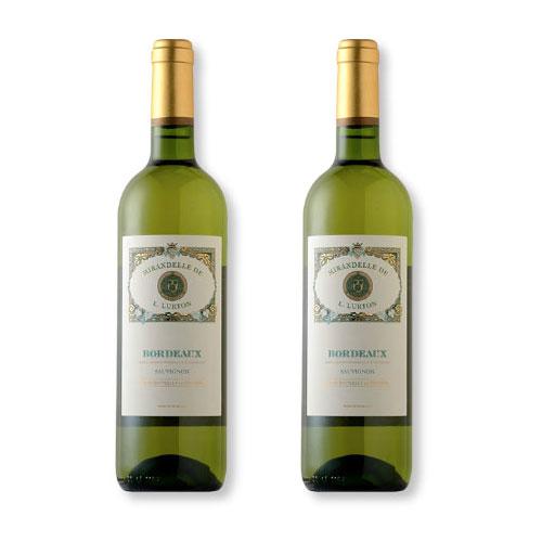 2 Vinhos Mirandelle de L. Lurton White 750ml
