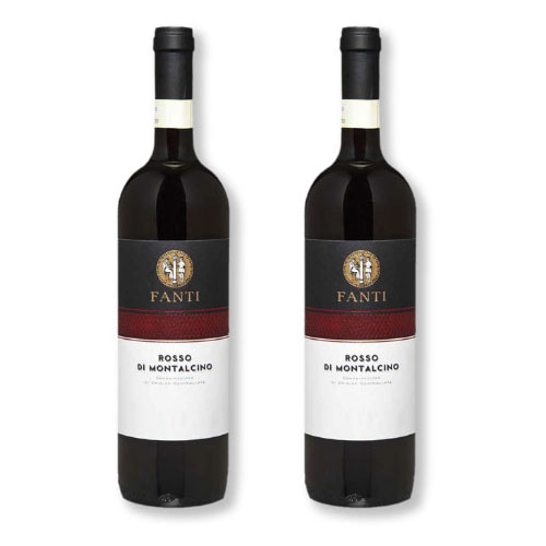 2 Vinhos Fanti Rosso di Montalcino DOC 750ml
