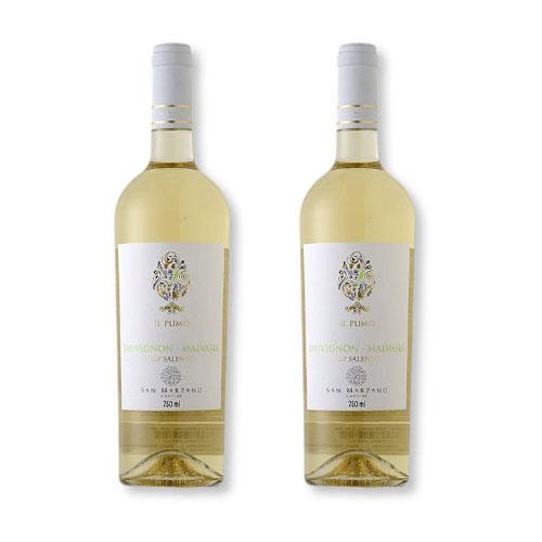 2 Vinhos San Marzano Il Pumo Sauvignon Malvasia Salento IGP 750ml