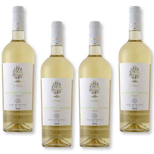 4 Vinhos San Marzano Il Pumo Sauvignon Malvasia Salento IGP 750ml