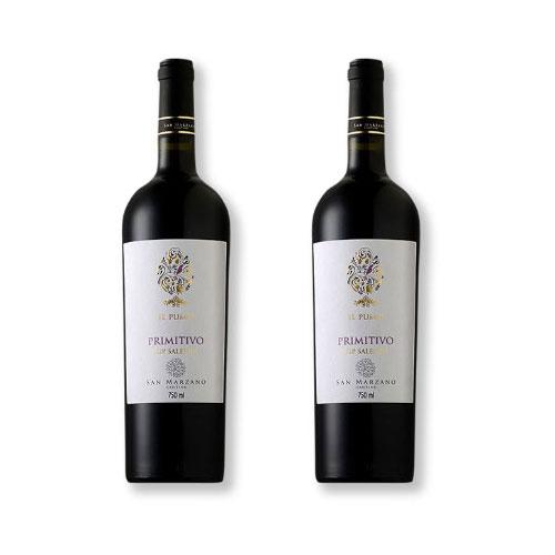2 Vinhos San Marzano Il Pumo Primitivo Salento IGP 750ml