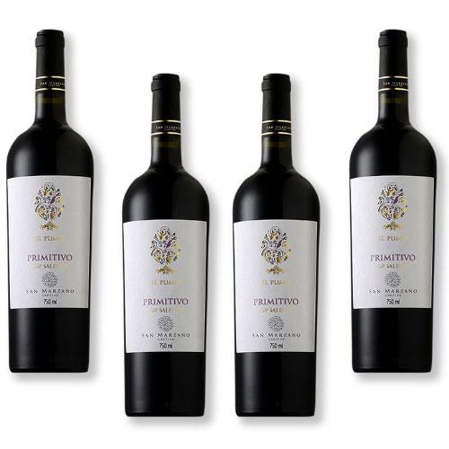 4 Vinhos San Marzano Il Pumo Primitivo Salento IGP 750ml