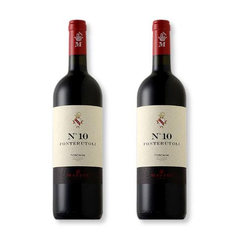 2 Vinhos Mazzei Fonterutoli Nº 10 Rosso Toscana IGT 750ml