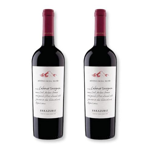 2 Vinhos Errazuriz Aconcagua Alto Cabernet Sauvignon 750ml