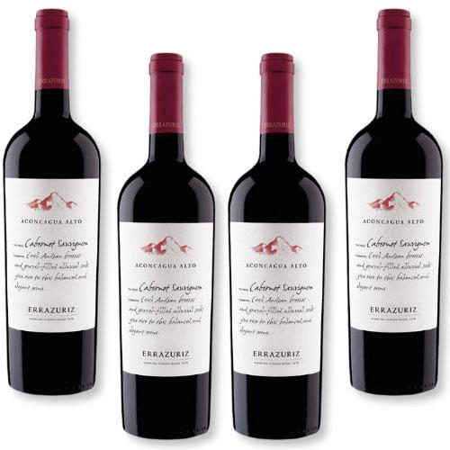 4 Vinhos Errazuriz Aconcagua Alto Cabernet Sauvignon 750ml