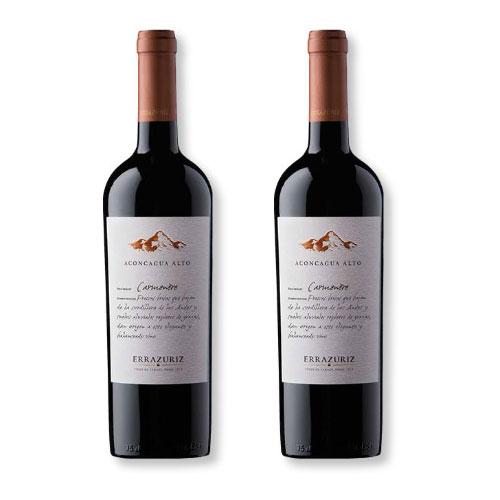 2 Vinhos Errazuriz Aconcagua Alto Carménère 750ml