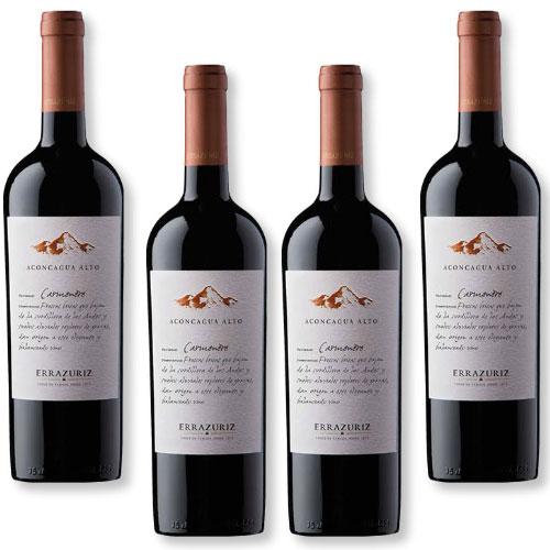 4 Vinhos Errazuriz Aconcagua Alto Carménère 750ml