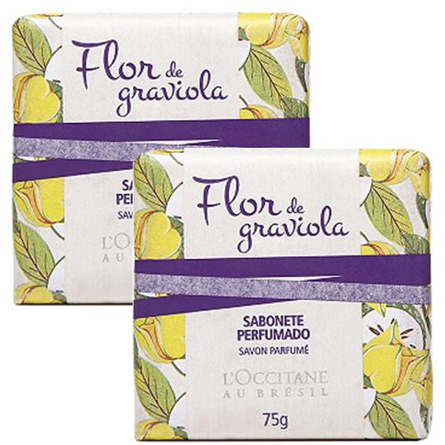 2 Sabonetes em Barra Perfumado Flor de Graviola 75g - L'Occitane au Brésil