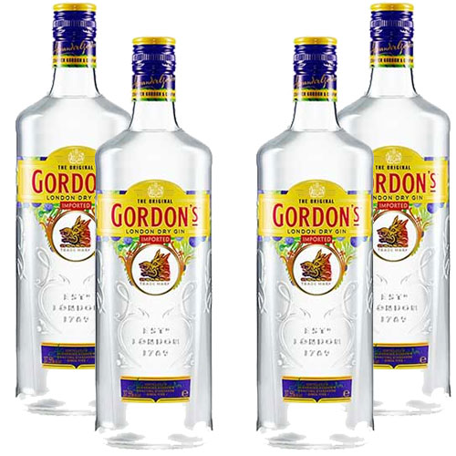 4 Gins Gordons London Dry 750 ml