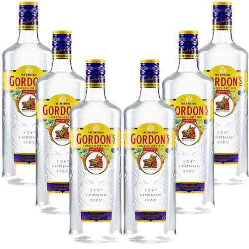 6 Gins Gordons London Dry 750 ml