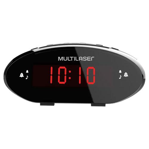 Rádio Relógio Digital 3W LED Vermelho - Multilaser